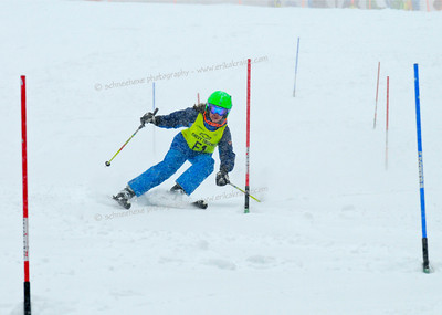 2-24-13 Age Class Dual Slalom at Loveland - Ladies Left Course (Odd Numbers) Run #1