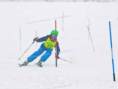 2-24-13 Age Class Dual Slalom at Loveland - Ladies Left Course Run #2