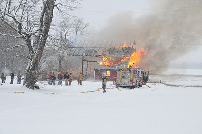 Barn Fire Mutual Aid with Algoma