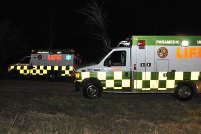 Life EMS on scene waiting to transport the patients to the hospital.  Check out the new paint scheme on the trucks.