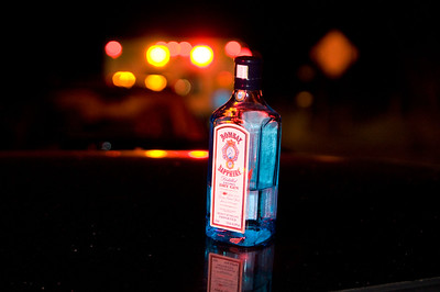 Alcohol plus driving vehicle equals ambulance ride.