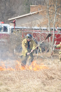 Walker Fire putting out some of the remaining flames.