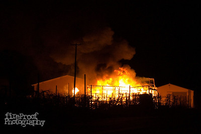 Sweitzer Farm Barn Fire November 6 2009