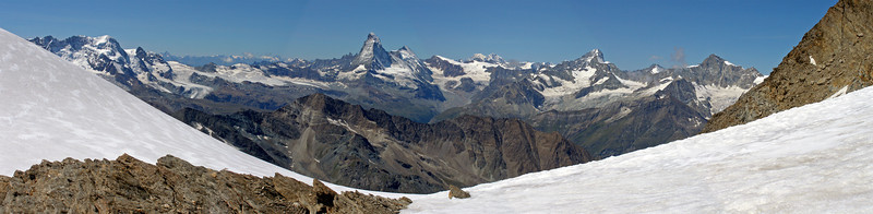 Panorama from the Alphubeljoch.  12.20pm, 08/08/12