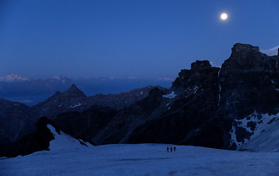On the Grand Verra glacier.  6.10am, 21/08/13