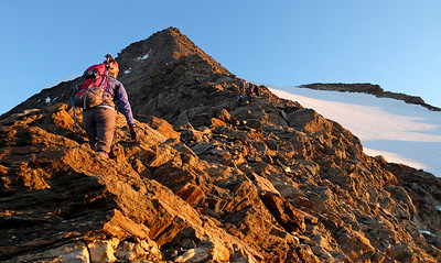 At 3500m on the Weissmies.  6.40am, 16/08/13