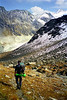 Descent from the Col du Tsaté to the Val de Moiry.<br /> <br /> 2.30pm, 23/09/98