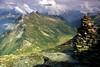 Cima di Pinadee ridge, above the Adula CAS hut.<br /> <br /> 8am, 30/08/02