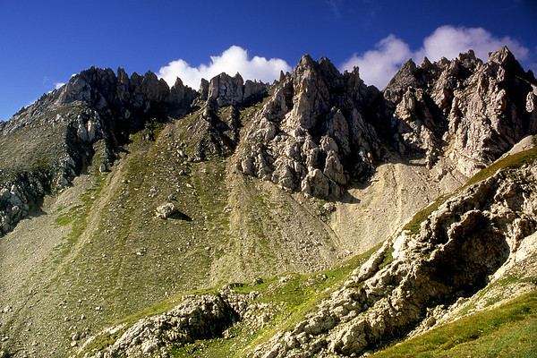Pizzo Colombe, 2545m,  from the north.<br /> <br /> 11am, 28/08/02<br /> <br /> ~ The Stac Pollaidh of the Ticino.