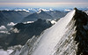SE from the Nadelhorn - Lenzspitze, Egginergrat, Stellihorn<br /> <br /> 10am, 2/9/03