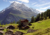 Dents de Veisivi from Grandpra, Val d'Arolla.<br /> <br /> 2pm, 21/09/99