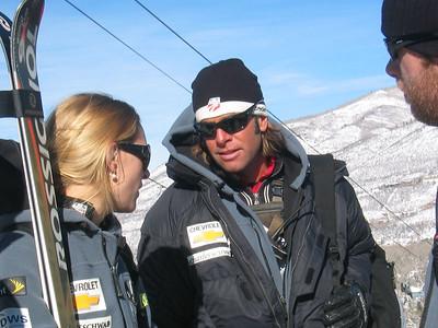 Jessica Kelly and SL/GS Head Coach Trevor Wagner discuss her run (Dec. 10)