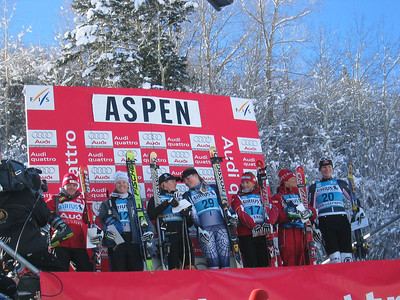 Awards at the Sirius Aspen Winternational super G (Dec. 9) Americans Kirsten Clark  and Lindsey Kildow finished fifth and seventh respectfully.