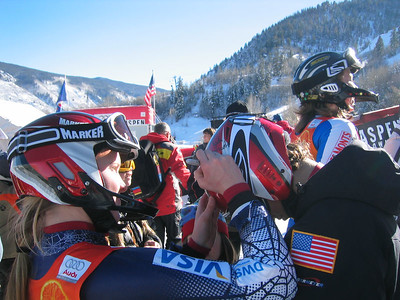 Jenni Lathrop signs autgraphs at her first World Cup (Dec. 11)