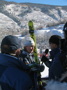 Kirsten Clark talks with OLN's Sean Smith about her top-5 finish at the Sirius Aspen Winternational super G (Dec. 9)