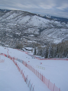 Super g course on Ruthies Run at Aspen (Dec. 9). Two of nine pictures of the course.