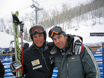 Stevev Nyman shares his first Birds of Prey World Cup super G (Dec. 1) with his dad