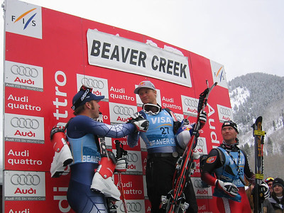 Bode Miller and Daron Rahlves on the podium (Dec. 2)