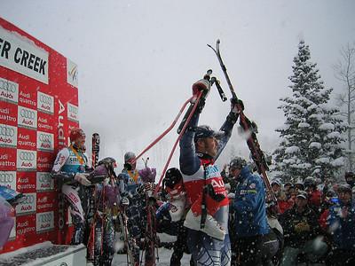 A victorious Bode Miller (Dec. 3 - GS winner)