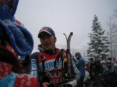 Bode Miller congratulates fellow competitors (Dec. 3)