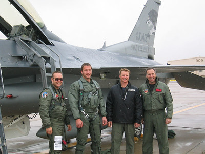 (l to r) Maj. Craig Wolf, B. Miller, D. Rahlves and Lt. Col. Curt Hughes