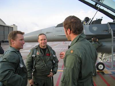 (l to r) D. Rahlves, Maj. Craig Wolf and B. Miller