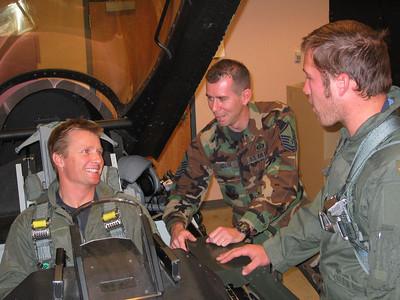 D. Rahlves and B. Miller get instruction from Greg Roark