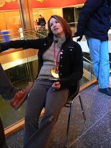 Olympic gold medalists Julia Mancuso (Olympic Valley, CA) early call for the Today Show. Credit: ATC for USSA
