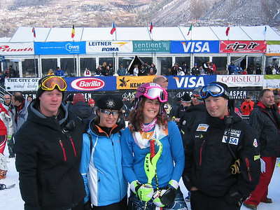 Jackson Hole's Resi Stiegler and her mother Carrie with their extended ski racing family