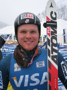 Chris Beckmann (Altamont, NY) all smiles at the 2006 running of the Visa Birds of Prey race week at Beaver Creek, CO (Nov. 29).