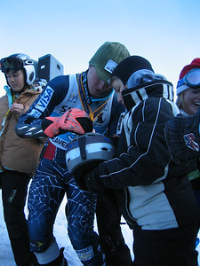 Ted Ligety (Park City, UT) signs autographs for fans following the Sirius Satellite Radio giant slalom at the Visa Birds of Prey race week (Dec. 2)