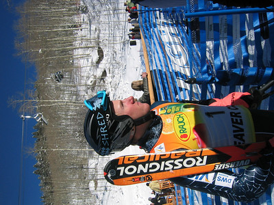 Ted Ligety (Park City, UT) in the finish on the last day of the Visa Birds of Prey race week (Dec. 3)