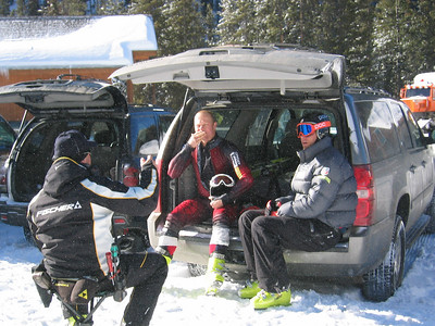 JJ Johnson gets ready for training in Keystone.