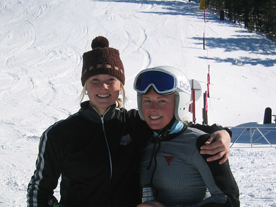 Olympians Kaylin Richardson and Libby Ludlow all smiles at the end of the training session at Keystone Resort.