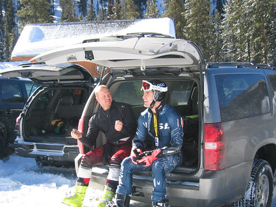 JJ Johnson and Scott Macartney discuss training runs in Keystone, CO.