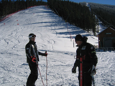 Scott Macartney and Men's Head Coach Phil McNichol discuss training at Keysone Resort.