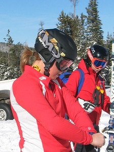 Kaylin Richardson gets ready for training at Keystone Resort.