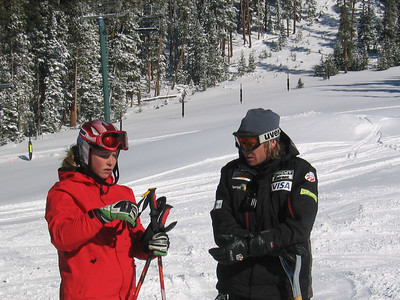 Kaylin Richardson and Women's Tech Head Coach Chris Knight review her run at the Keystone Resort training camp.