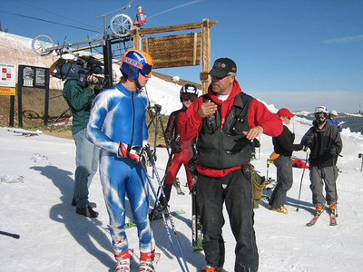 Squaw Valley's Nick Daniels and NDS Technical Advisor Kevin McDevitt review the course on Copper Mountain's Ptarmigan.