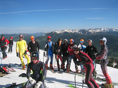 NDS campers at the top of Copper Mountain's Ptarmigan run take a break from training GS