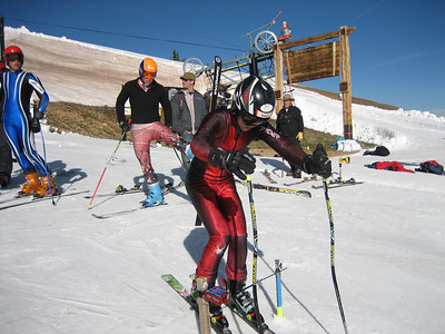 In the start gate: Steamboat Springs Winters Sports Club's Max Marno at the NDS June camp.