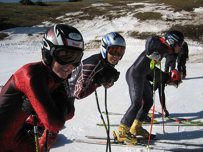 NDS athletes at the top of Copper Mountain's Ptarmigan run (l to r) Steamboat's Max Marno and GMVS' Evan Diamond