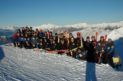 U.S. Men's Alpine Ski Team - World Cup and Europa Cup athletes at New Zealand camp in August 2006.