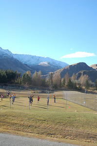 Dryland training for the U.S. Men's Ski Team in New Zealand. August 2006.