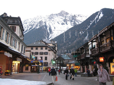 The view from downtown Chamonix (Doug Haney/U.S. Ski Team)
