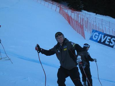Utah's Steven Nyman at downhill inspection (Photo credit: U.S. Ski Team/Juliann Fritz)