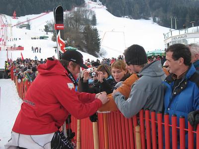 Marco Sullivan signs autographs for the Kitzbuehel fans. Credit: U.S. Ski Team/Juliann Fritz)