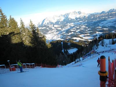 View of Kitzbuehel from the top of the Hahnenkamm downhill (Photo credit: U.S. Ski Team/Doug Haney)