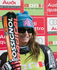 Julia Mancuso was second in the opening GS of the Audi FIS Ski World Cup in Soelden, Austria.