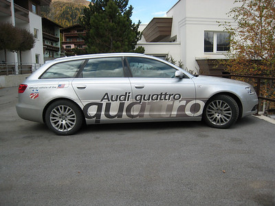 The official U.S. Ski Team  Audi A6 (credit: Doug Haney/U.S. Ski Team)